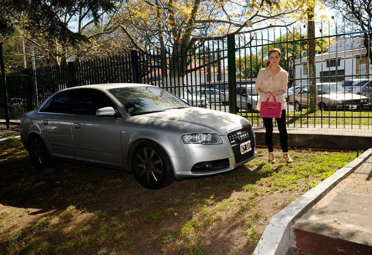 Agustina Kämpfer manejaba este Audi A4 que la Justicia sospecha que fue una coima al entonces ministro de Economía, Amado Boudou.