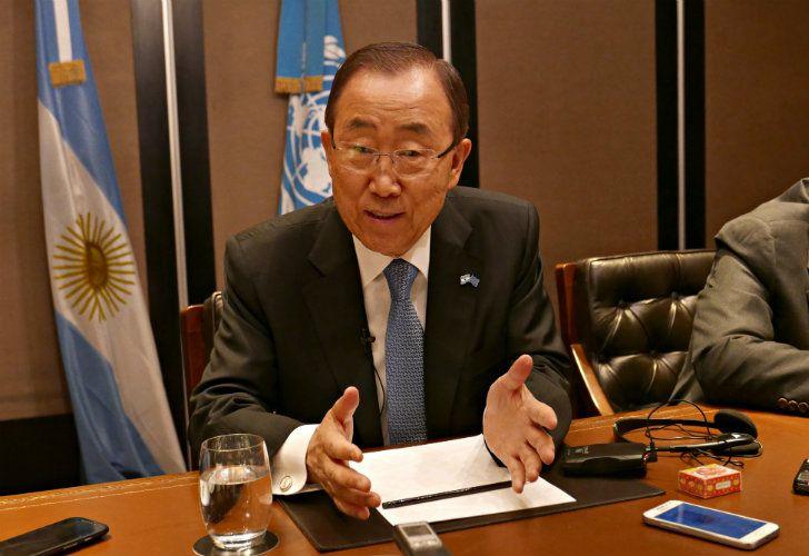 El Secretario General de las Naciones Unidas, el surcoreano Ban Ki-moon.