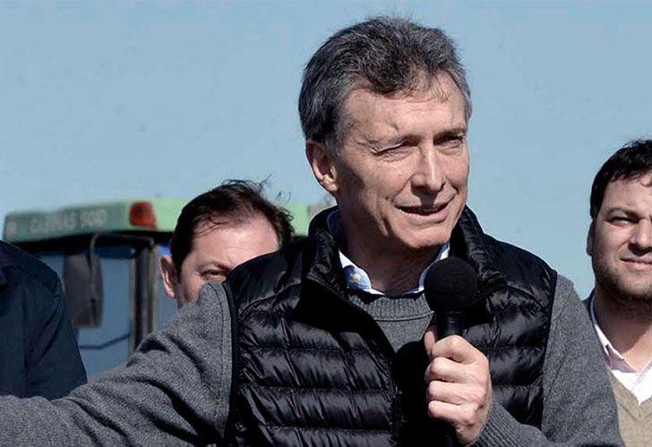 Macri, durante la puesta en marcha de las obras para la construcción del Metrobus en el partido de Tres de Febrero.