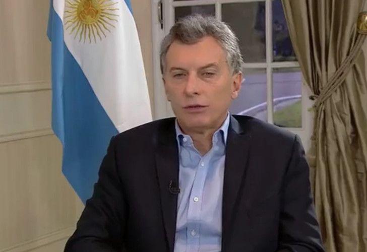 El presidente Mauricio Macri en su entrevista con Buzzfeed en Español.