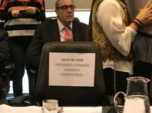 La silla de Julio de Vido en el plenario de Comisiones