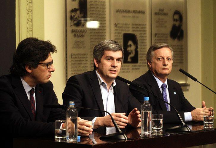 Marcos Peña, Germán Garavano y Juan José Aranguren