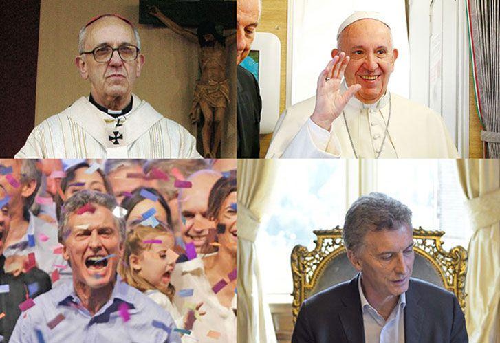 AL REVES: a Bergoglio ser papa lo rejuveneció porque siendo cardenal estaba de mal humor, mientras que Macri era alegre de candidato y severo de presidente.