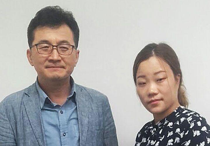 Sufridos. Kim Hyung-Soo y Han Eun-Mi se fueron de su país natal.