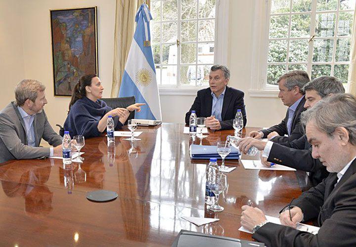 En Olivos. El Presidente mantuvo ayer en la residencia oficial una reunión para analizar los pasos a seguir junto a Michetti, Frigerio, Monzó, Prat-Gay, Lopetegui y Quintana.