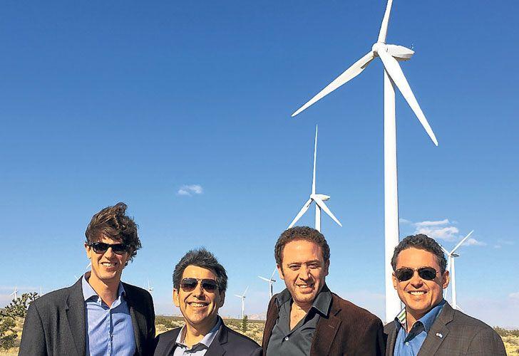 Foco. Kind, secretario de Energías Renovables, y Noah Mamet.