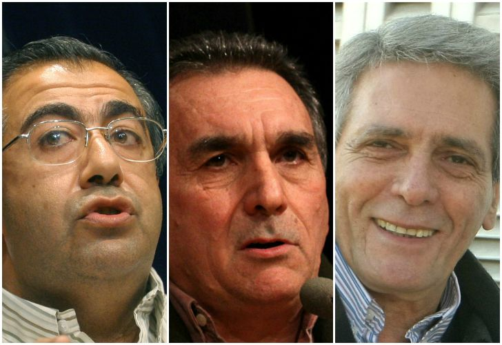 Los gremialistas Héctor Daer, Juan Carlos Schmid y Carlos Acuña.