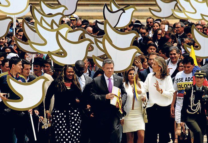 Historico. Santos llevó al Congreso el acuerdo que puede poner fin a un conflicto de cincuenta años.