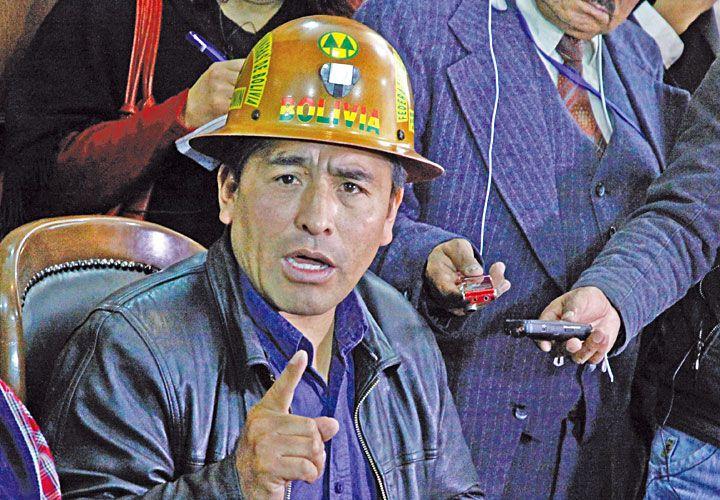Imputado. Mamani, líder de los mineros cooperativistas.
