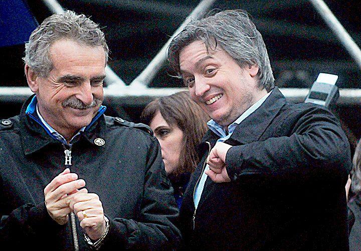 """Poíitica económica. Máximo dijo que el modelo """"es frío y gélido como la mirada del Presidente"""". Bonafini, dura contra el Gobierno."""
