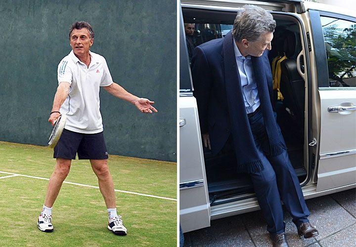 El presidente Mauricio Macri se realizó un chequeo en la rodilla.