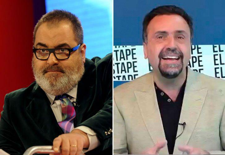 Izquierda: Jorge Lanata. Derecha: Roberto Navarro.