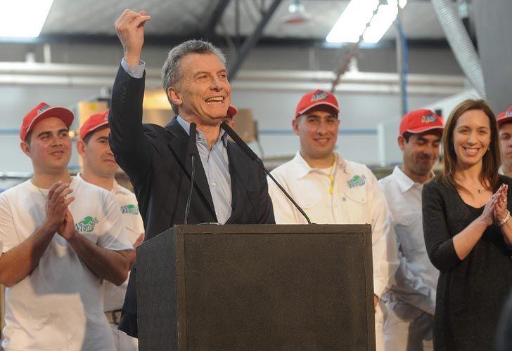 Mauricio Macri presidió un acto en la fabrica de ''Manaos''.