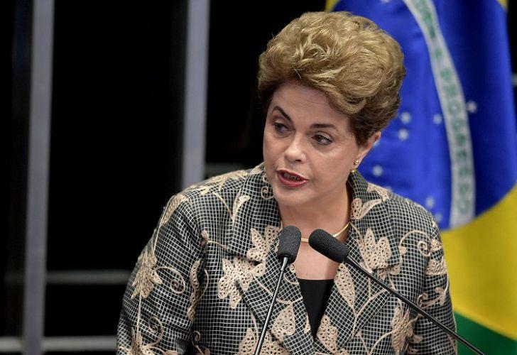 Dilma Rousseff, ante el Senado.