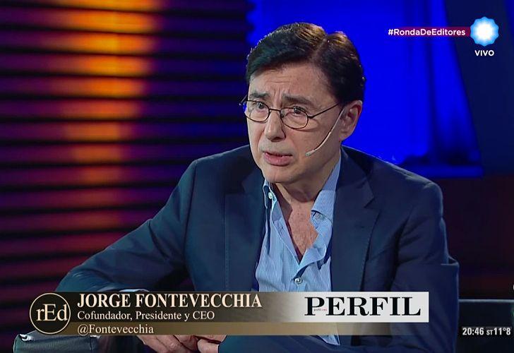 Jorge Fontevecchia, en la TV Pública Argentina.