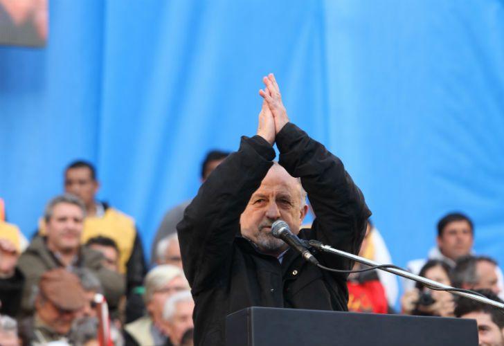 Yasky en el cierre de la Marcha Federal