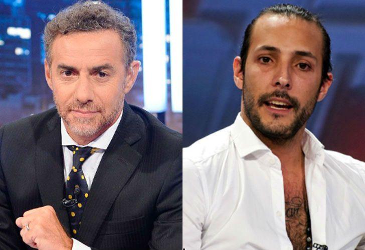 El periodista Luis Majul y el financista Leonardo Fariña