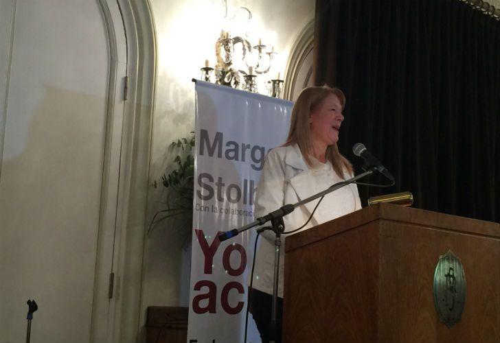 Margarita Stolbizer en la presentación de su libro.