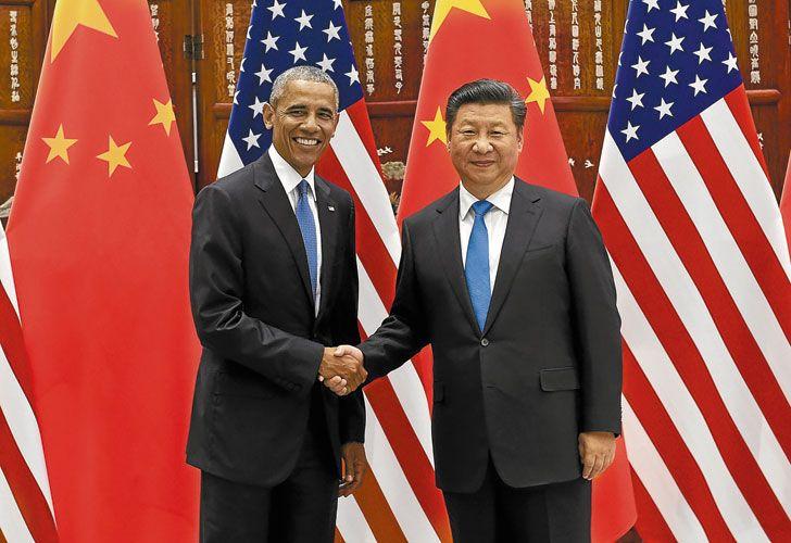 Liderazgo. Obama y Xi Jinping ayer en Hangzhou, donde entregaron el documento a Ban ki-Moon.