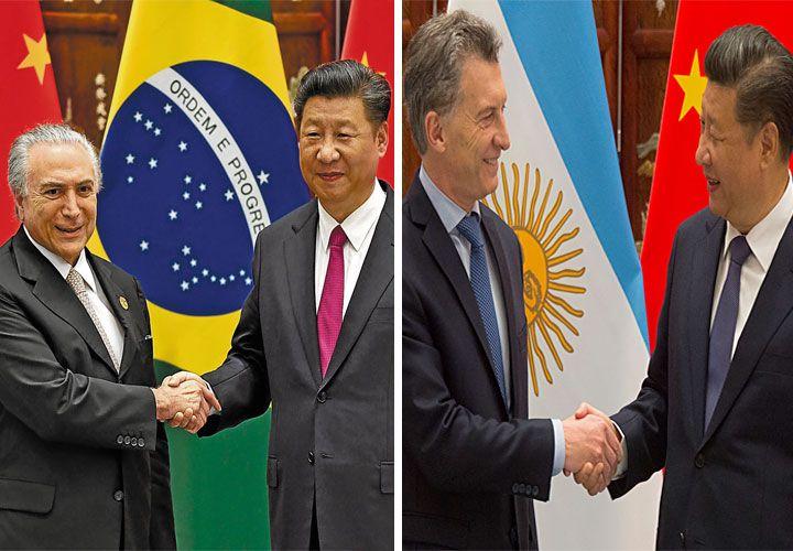 BRASIL Y ARGENTINA en el G20, sus presidentes con el de China.