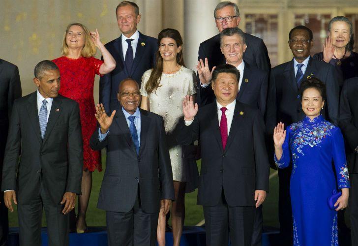 Mauricio Macri junto a sus pares en el G20.