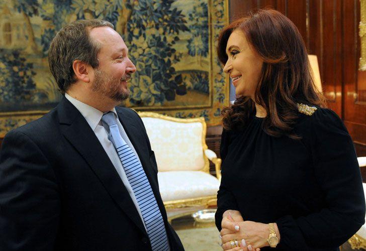 Martín Sabbatella y Cristina Kirchner
