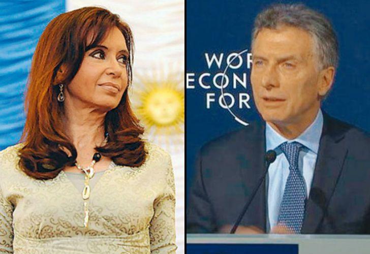 Presidentes en enero. CFK, en 2008. El líder de Cambiemos, en 2016.