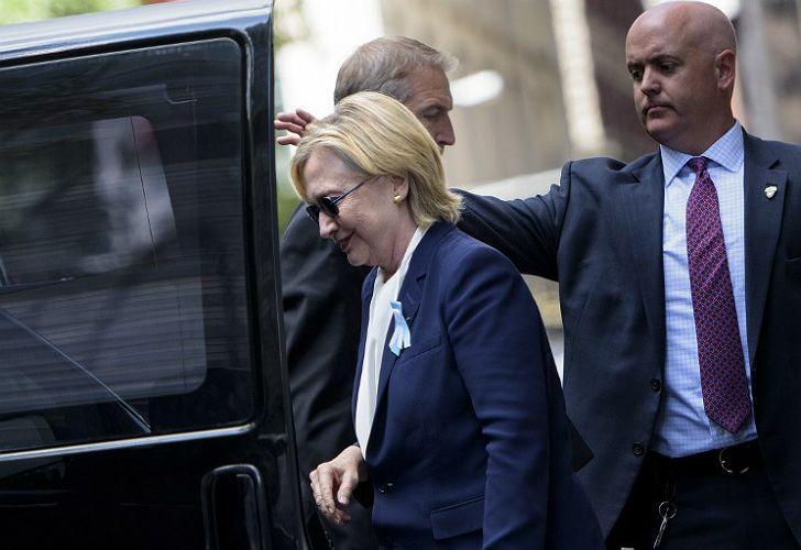 Clinton, durante el día del desmayo.