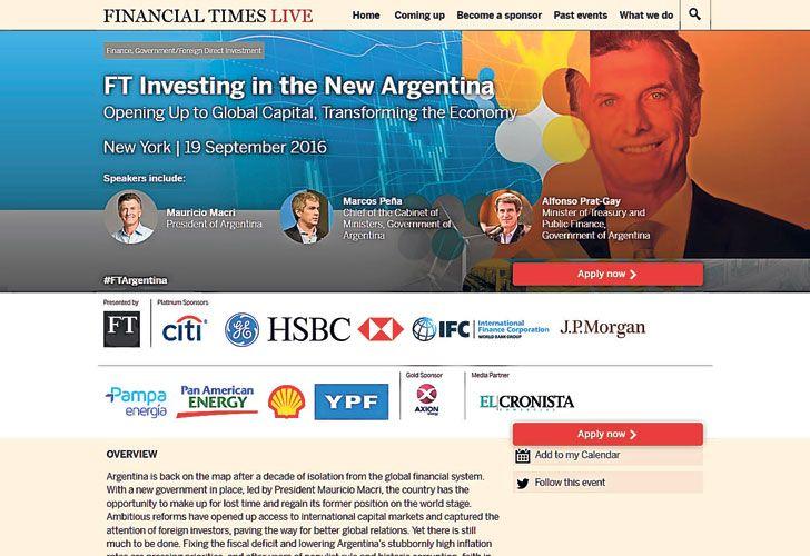 """Difusion. """"Invertir en la nueva Argentina"""", el evento de mañana."""