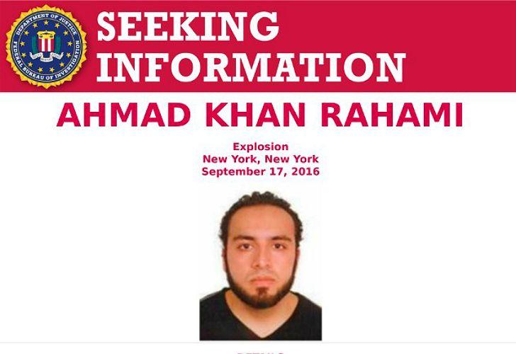 Ahmad Khan Rahami, el sospechoso buscado por el FBI.