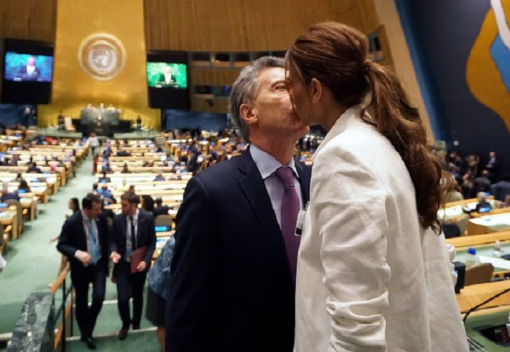 Mauricio Macri y Juliana Awada en la Asamblea General de la ONU
