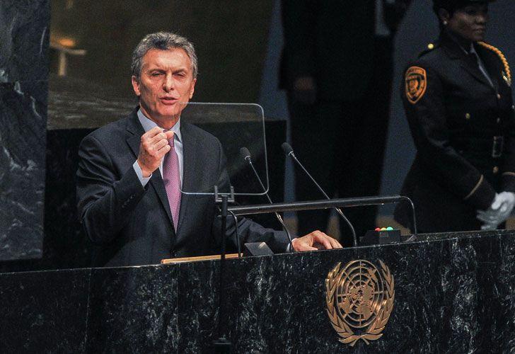 Maurició Macri disertó en la Asamble General de la ONU.