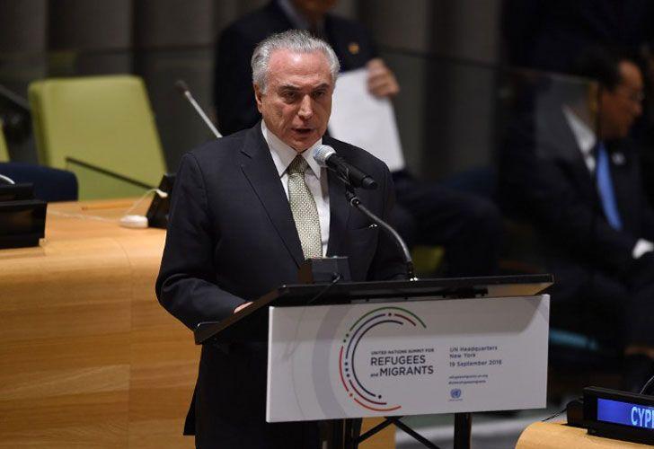 Michel Temer, en un discurso sobre los refugiados en las Naciones Unidas.