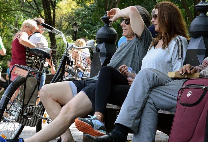 Macri y su esposa pasearon en bicicleta por el Central Park.