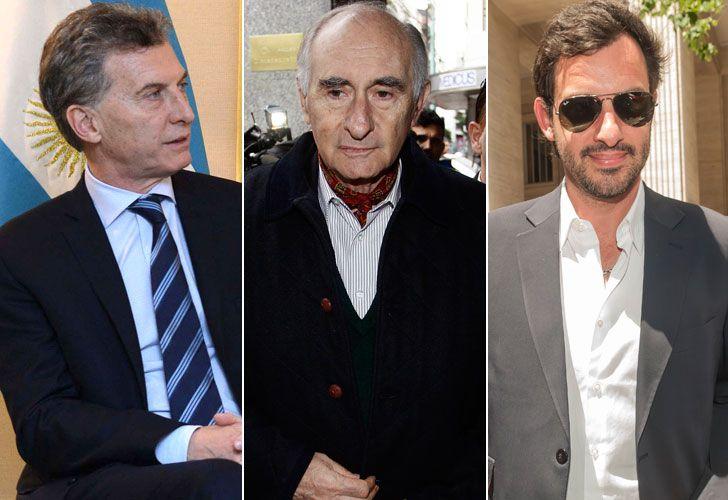 Macri, Fernando y Aito De La Rua.