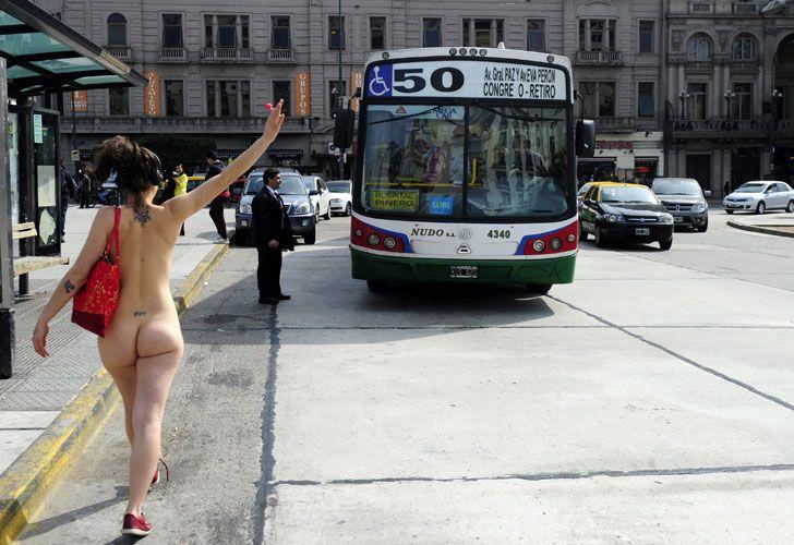 Desnudo Plaza de Mayo