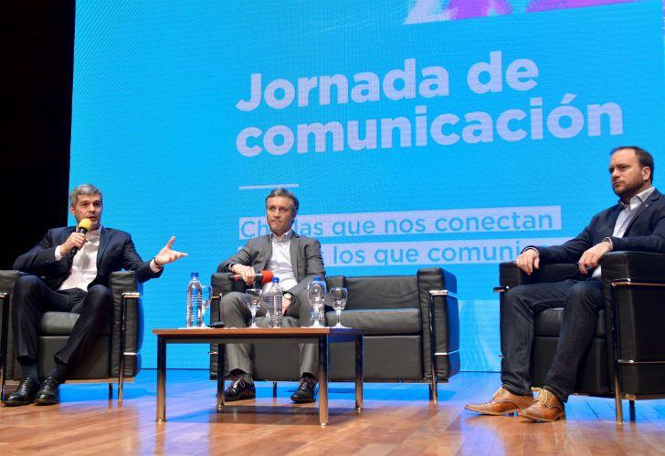 El jefe de Gabinete de la Nación, Marcos Peña, fue el principal orador en una jornada de comunicación de Gobierno que se realizó hoy en las instalaciones del CCK