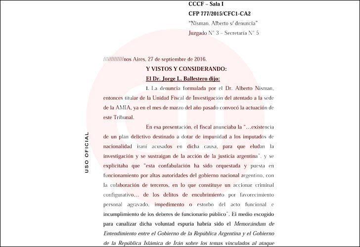 La Cámara Federal confirmó el rechazo a un pedido para que se reabra la investigación por la denuncia presentada por el fiscal Nisman
