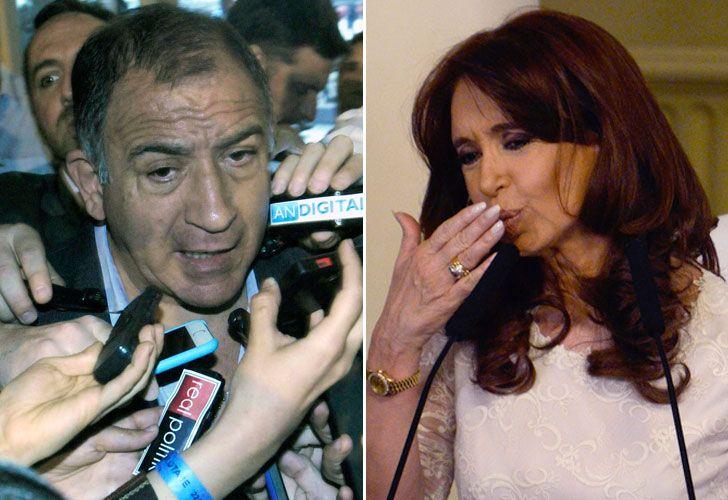 Luis Juez y Cristina Kirchner