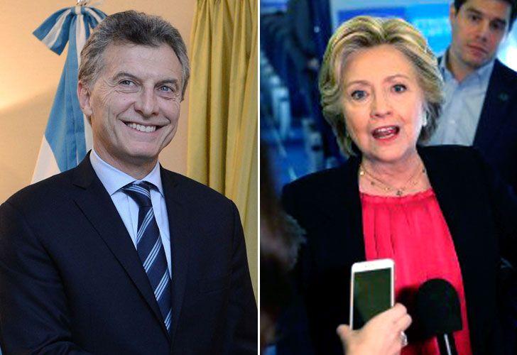 Mauricio Macri y Hillary Clinton