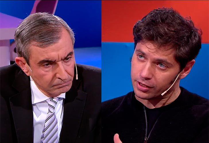 Nelson Castro y Axel Kicillof