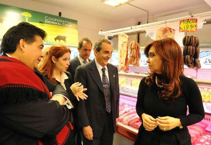 La expresidenta Cristina Fernández de Kirchner y la actriz Andrea del Boca.