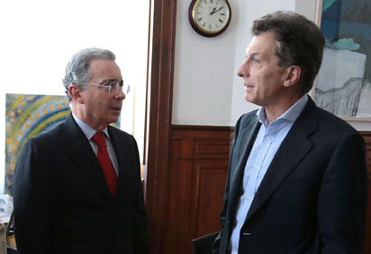 Mauricio Macri y uribe