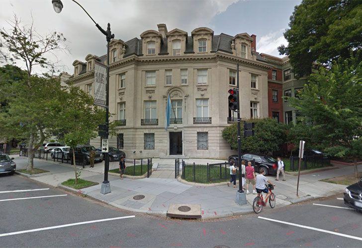 La Residencia Oficial de la Embajada Argentina en Estados Unidos, en la ciudad de Washington.