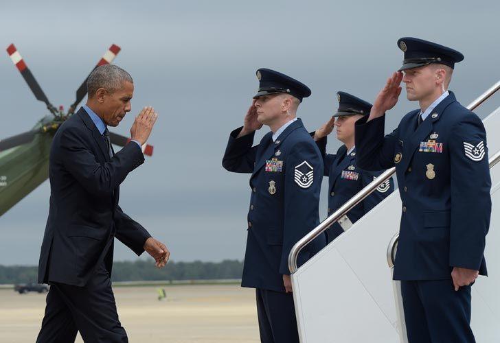 Obama viajando