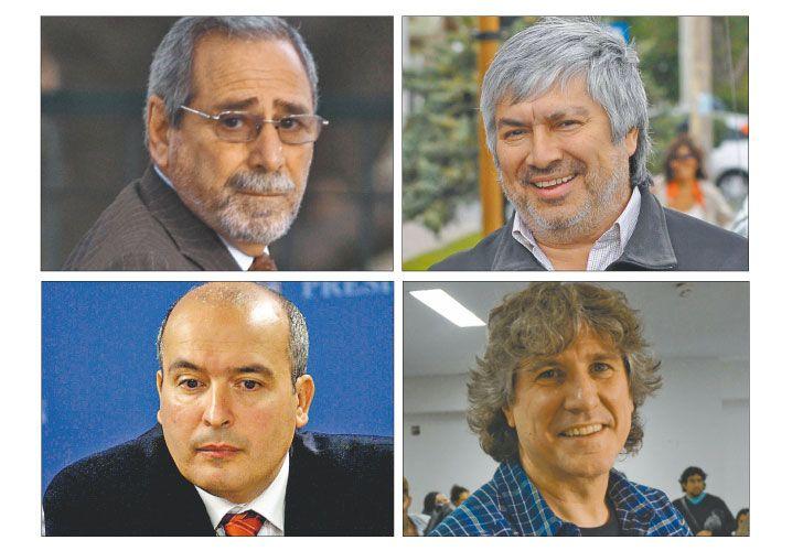 Poker. Jaime, Báez, López y Boudou, cuatro de los ex funcionarios con problemas judiciales.