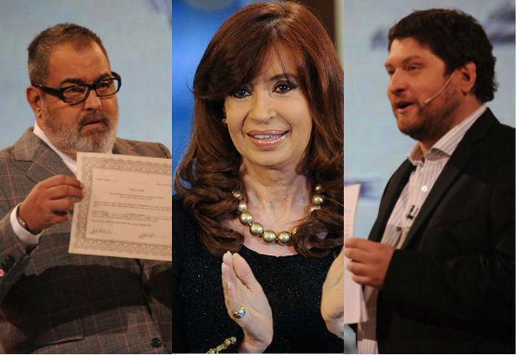 Lanata, Fernández de Kirchner y Wiñazki.