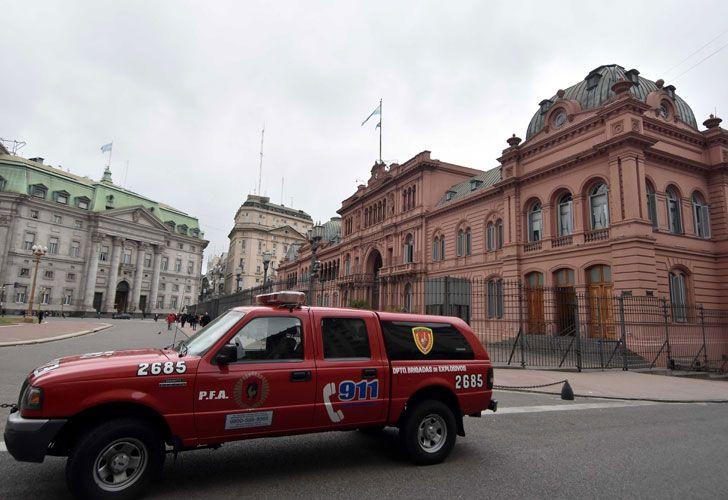 Amenaza de bomba contra la sede gubernamental
