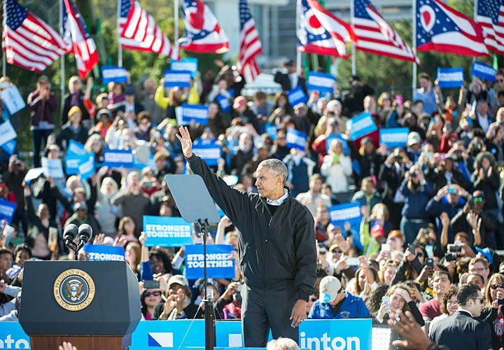 """Fervor. Dijo que """"está todo en riesgo"""" ante la posibilidad de una victoria del candidato opositor."""