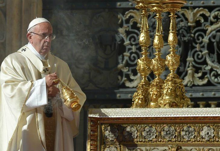 Canonización del Cura Brochero, con la presencia de la delegación argentina.